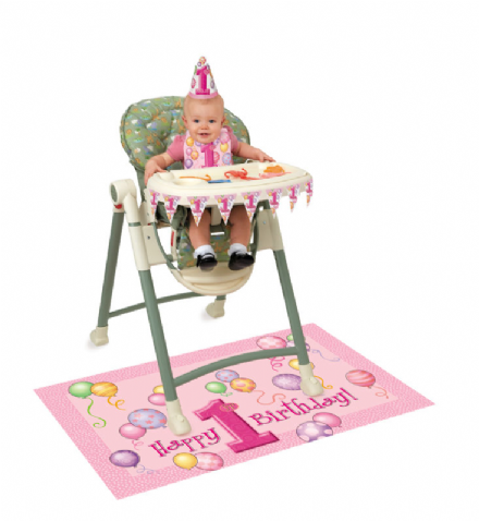 1St Birthday Pink High Chair Kit